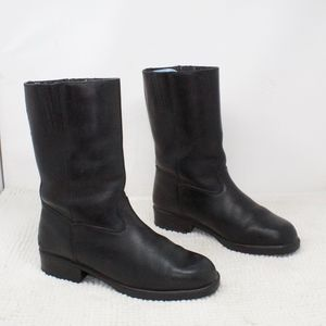 Cruserworks Black Leather Motocycle Boots Size 10